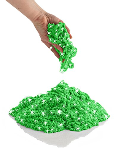 (CoolSand Sparkling Green Emerald 2 Pound Refill Pack - Moldable Indoor Play Sand in Resealable Bag)