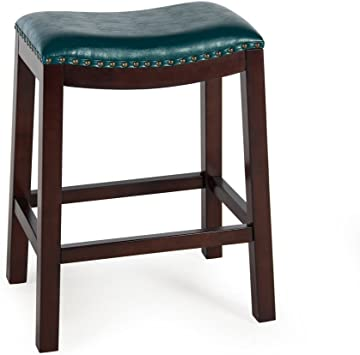Amazon.com: Counter Bar Stools Bistro (Teal) Backless Wood Chairs Pub Stool Kitchen And Dinningroom Seat Furniture: Furniture & Decor