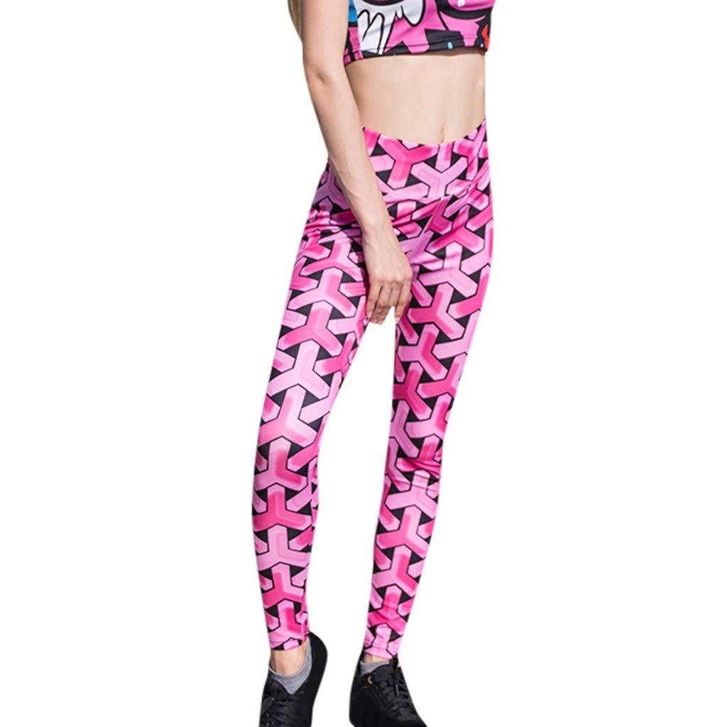 Sumen Vitality Teen Girls Yoga Pants Splice Legging Running Sports Pilates Trouser Pink