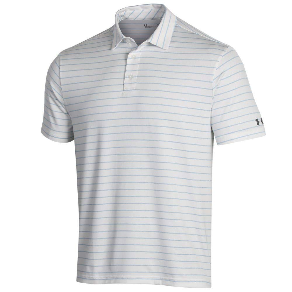 Under Armour New Mens 2019 Playoff Tour Stripe Golf Polo White ...