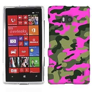 For Nokia Lumia 928 Green Pink Camo Case Cover