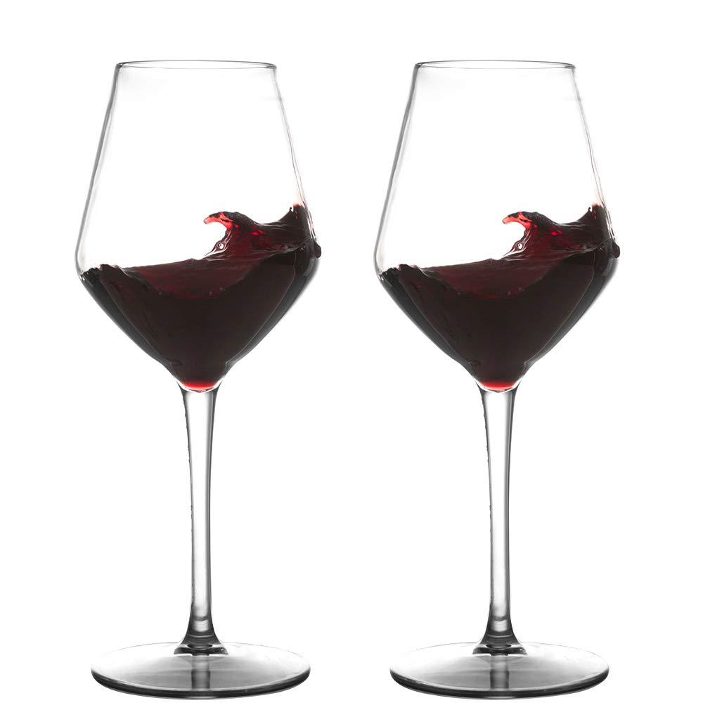 IDGIRLS Unbreakable Plastic Bordeaux Wine Glasses, BPA-free and Reusable Goblet, 100% Tritan Plastic shatterproof Glass with Long-Stemmed, 15 oz Dishwasher Safe Wine Cups, Set of 2