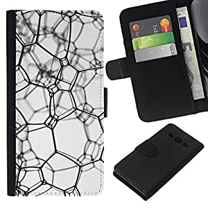 All Phone Most Case / Oferta Especial Cáscara Funda de cuero Monedero Cubierta de proteccion Caso / Wallet Case for Samsung Galaxy A3 // Messy texture