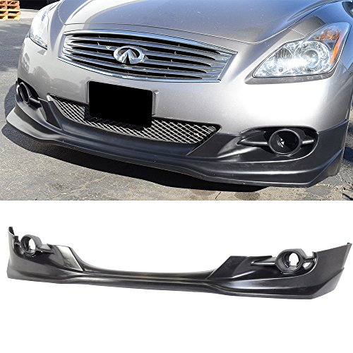 08-10 Infiniti G37 Sport / 11-13 G37 Non-Sport TS Style Add-On PU Front Bumper Lip (WILL NOT FIT OEM FOG LIGHTS)