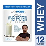 Cheap Jay Robb – Grass-Fed Whey Protein Isolate Powder, Outrageously Delicious, Vanilla, 11 Servings (12 oz)