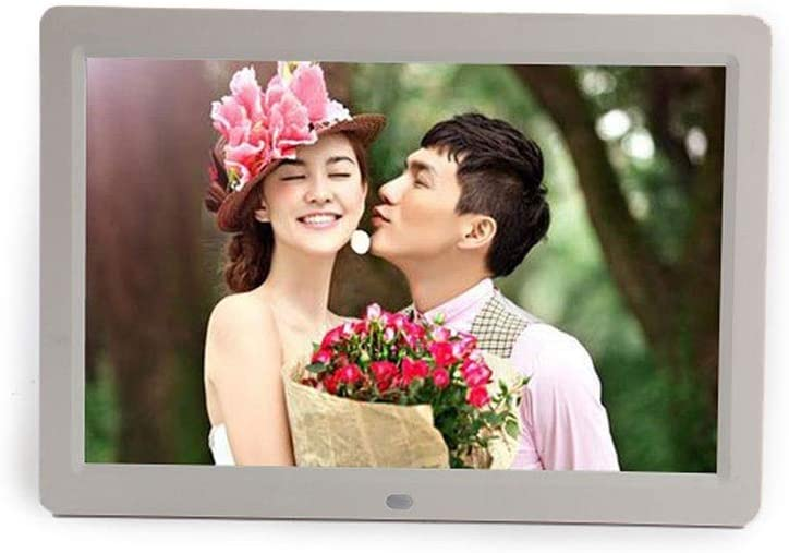 Oureong Digital Photo Frame 12 Inch Digital Picture Frame 1280800 Pixels High Resolution High Resolution LED Screen USB and SD Card Slots and Remote Control Color : Black, Size : 12inch