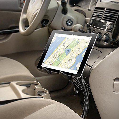 Tablet Mount for Car and Truck - TACKFORM [ELD Mount] Industrial 22 Inch Gooseneck Seat Rail Device Holder for Taxi, Van, Vehicle, Semi. Cradle for all devices including iPad, Galaxy, Surface Pro … by Tackform Solutions (Image #2)