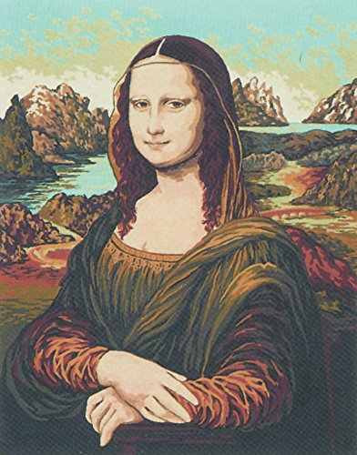 Needlepoint Canvas Tapestry - Collection D'Art Needlepoint Painted Canvas Tapestry Gobelin - Mona Lisa D'Vinci. 20