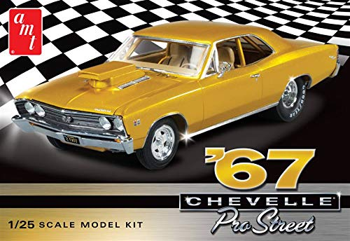 AMT876 AMT '67 Chevelle Pro Street 1/25 Scale Plastic Model Kit (Pro Street Best Cars)