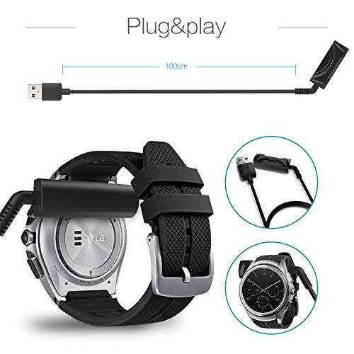 TUSITA Cargador para LG Watch Urbane 2nd W200 - Cable de carga USB 100cm pinza de la base - Reloj inteligente Accesorios