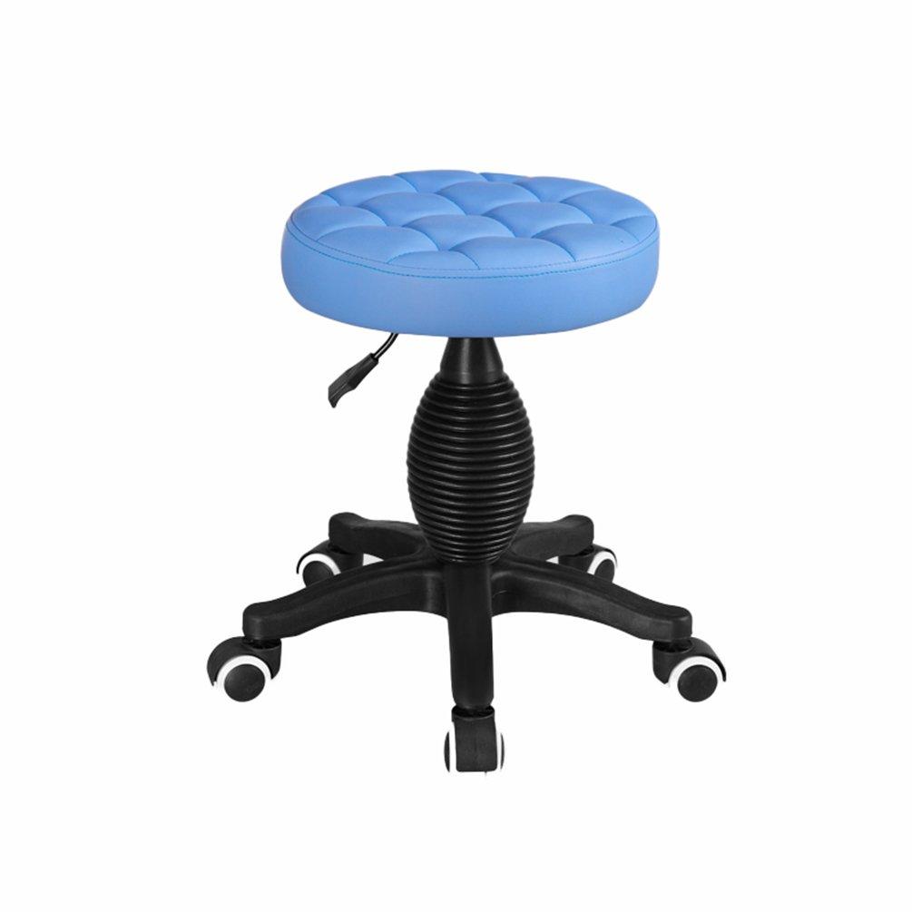 bluee LQQGXL Hair Salon Stool, redating Stool Creative Dining Chair, (color   RED)