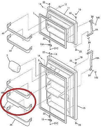 240338001 Door Bin Shelf for Frigidaire or Kenmore Refrigerator