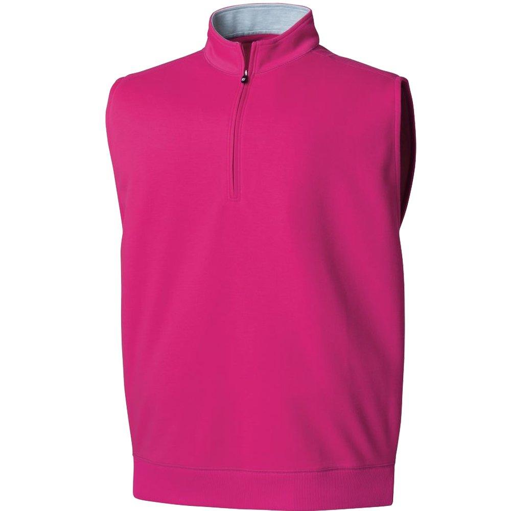 FootJoy Half-Zip Golf Vest Previous Season Apparel Style Berry Small