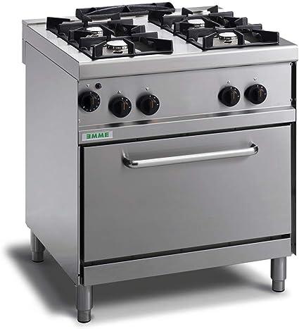 Cocina industrial 4 fuegos a gas con horno y llama piloto ...