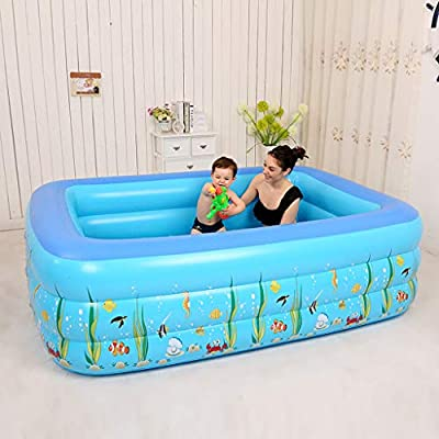 Inflatable Swimming Pools, Inflatable Lounge Pool, Family Swimming Pool for Kids, Babies, Adults,Toddlers, Outdoor, Garden, Backyard (51.18x35.43''): Garden & Outdoor