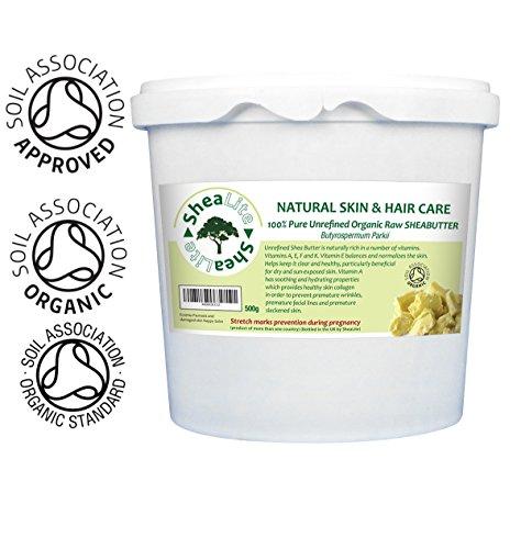 Shea Butter Unraffinierte 100% reine, Rohmaterial, Natural & Organic   African Shea Butter Cream Für Ekzem, dringt durch Schichten von Skin Deep, beschleunigt die Zellerneuerung Re Spendet Feuchtigkeit & Reparaturen Hände, Füße, Lippen, Haar und Kopfhaut. Für empfindliche Haut, Babys, in der Schwangerschaft, um Schwangerschaftsstreifen zu verhindern - Vorteile für alle Skin Lotion garantiert!   100g, 250g, 500g, 1kg (500g)