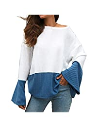 Bloues for Women, DRAGONHOO Long Sleeve O-Neck Flare Sleeve Sweater Tops Bloues T Shirt Sweatshirt Tops Pullover Loose Tunic