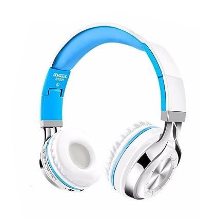 Plegable Inalámbrico Auriculares Bluetooth Headset Stereo Auriculares para Samsung S9 para iPod, teléfono móvil,