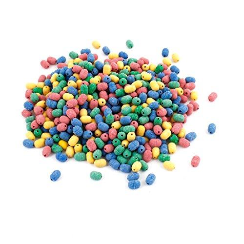 Couleurs assorties 5,5 x 3,5 mm Perles caoutchouc O Forme de pêche 500pcs