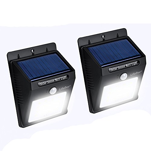 Lifebee Garden Decor Solar Light, Super Bright 16 LED Waterproof Powered with Motion Sensor Security Lights for Outdoor Path Driveway Patio Fencing (2)