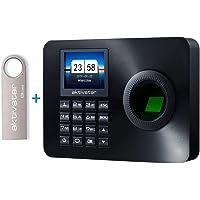 Aktivstar Maquina Asistencia Empleados de Fichar Huella Dactilar con Sistema Española, Pantalla LCD Memoria Flash de 8GB…