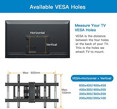 electronics, television, video, television accessories, tv mounts, stands, turntables,  tv ceiling, wall mounts 7 discount PERLESMITH TV Wall Mount Bracket Full Motion Dual in USA