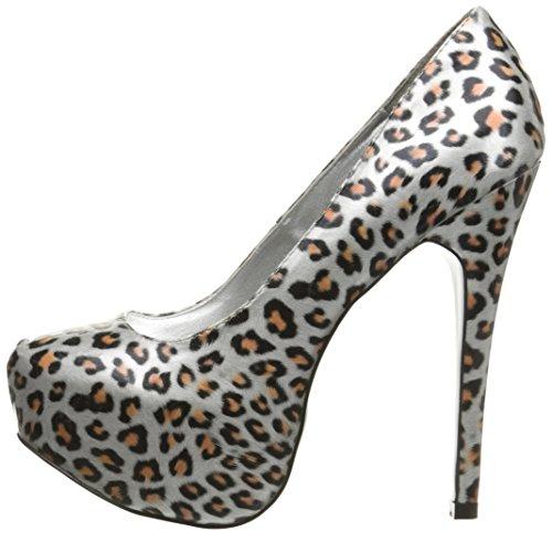 Polyurethane Heel Pump Highest Silver The Kissable Women's Leopard 8wBBq1