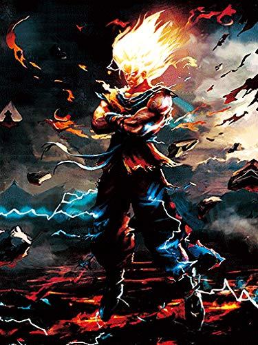 Super Saiyan Goku. Dragonball Z. 3D Holographic Poster by Eyecandy 3D. Fan Art. Unframed Print Dragon Ball Z Fan Art