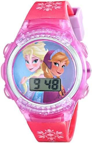 Disney Kids' FKFKD013FL Digital Display Quartz Pink Watch with Flashing Lights in a Gift Tin