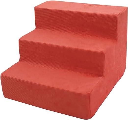 WYDM Escaleras para Perros, Easy Climb Pasos para Mascotas de 3 Pasos Cojín Cubierta Desmontable y extraíble Escalera Acolchada y Suave 40 × 38 × 30 cm (Color : Orange): Amazon.es: Hogar