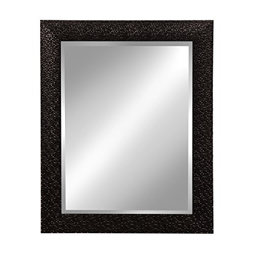 Kate and Laurel Coolidge Framed Wall Vanity Beveled Mirror, 23x29, -