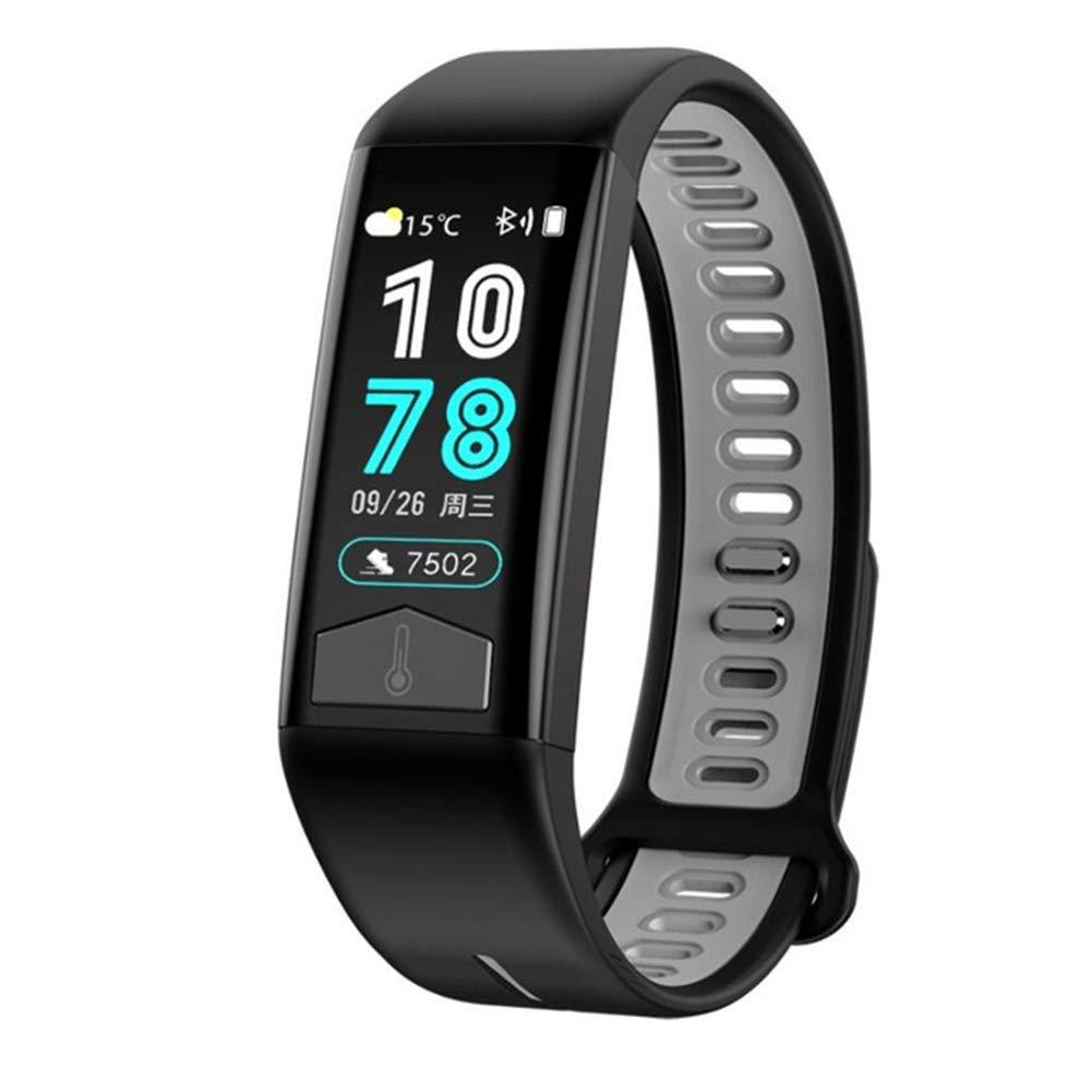 MYLJX Smart Watch, Support 9 Languages, PPG ECG Body Heat Heart Rate Monitor IP68 Waterproof Weather Forecast Fitness Tracker Smart Bracelet Men Women-Black by MYLJX