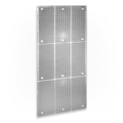 Azar 700248-CLR Clear Frosted 24-Inch W by 48-Inch H Pegboard Wall (Acrylic Pegboard)