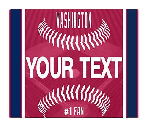 (BleuReign(TM) Personalized Custom Name Baseball Washington License Plate Square Refrigerator Fridge Magnet )
