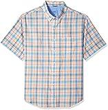 IZOD Men's Tall Saltwater Chambray Short Sleeve Shirt, Papaya Punch, 2X-Large Big
