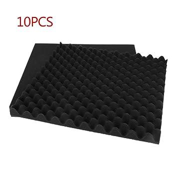 10 paneles de espuma acústica para absorción de sonido, para esquinas, graves, trampa