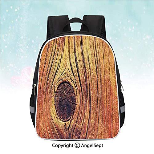 Nylon Fabric Backpack,Lfe Tree Concept with Divided Core Macro Circles Habitat Natural Wonder Photo,13