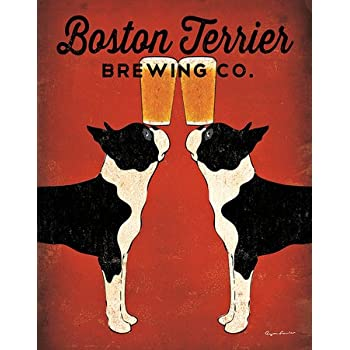 Boston Terrier Brewing Co. Poster Print by Ryan Fowler (11 x 14)