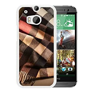 HTC ONE M8 Case,Burberry 26 White HTC ONE M8 Screen Cover Case Charming and Elegant Design