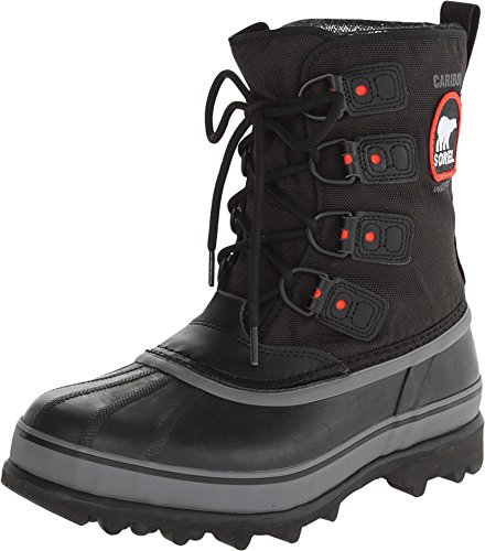 Sorel Men's Caribou Extreme Snow Boot,Black/Shale,9 M - Boots Mickey Mouse