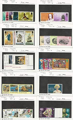 Pitcairn Islands, Postage Stamp, 151//197 Mint NH, 1975-80, JFZ