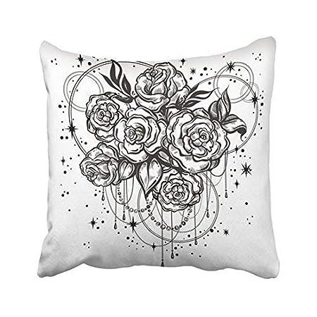Pattebom - Funda de Almohada Decorativa con diseño Floral de Rosas ...