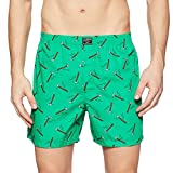 Jack & Jones Men's Printed Boxers (12131147_Classic Green_M)