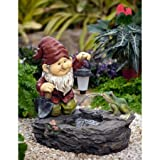 Gnome Fountain with Solar Light WXF03073