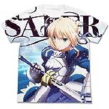 Fate/Zero 騎士王セイバーフルグラフィックTシャツ ホワイト サイズ:XL