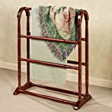 Touch of Class Aubrie Solid Wood Blanket Rack Classic Cherry