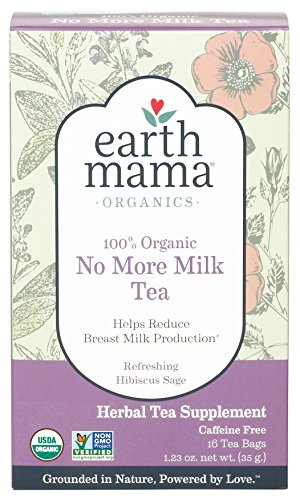 Earth Mama Organic No More Milk Tea for Weaning from Breastmilk, 16-Count
