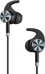 Active Noise Cancelling Headphones, TaoTronics Noise Cancelling Earbuds Wired Headphones in-Ear Earphones with 15 Hours Playtime and Built-in Microphone, Black