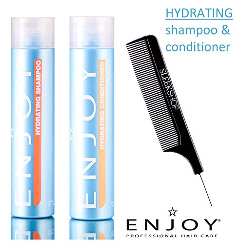 Enjoy HYDRATING SHAMPOO & CONDITIONER Duo SET, HYDRATE Color-Holding Formula, Sulfate-Free pH 4.5-5.5 (STYLIST KIT) pH 3.5-4.5 (10.1 oz / 300 ml - ORIGINAL DUO KIT)