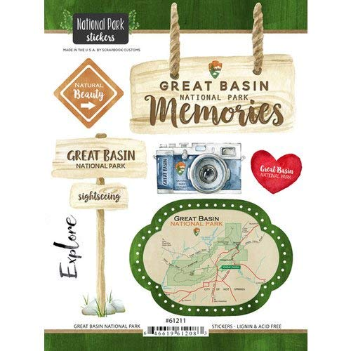 - Scrapbook Customs 61211 Great Basin National Park Nevada Watercolor Stickers
